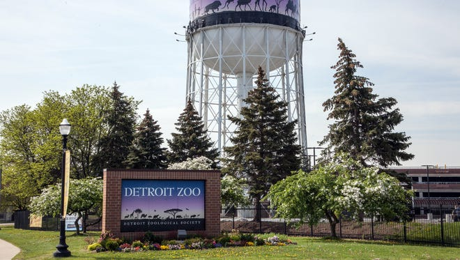 The water tower at entrance to the Detroit Zoo on Woodward Avenue in Royal Oak.