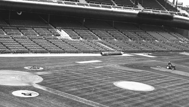 Crosley Field in April of 1966.