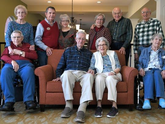 Five couples from Franklin's Brookdale Senior Living