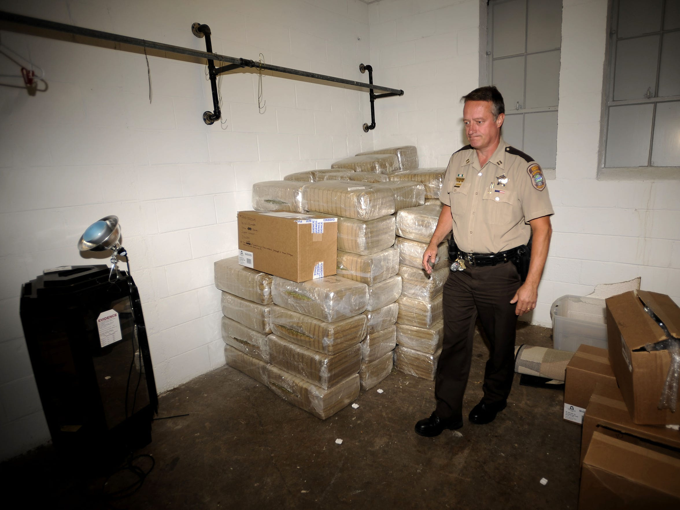 A file photo of the sheriff's evidence room from 2010