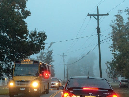 Morning fog driving