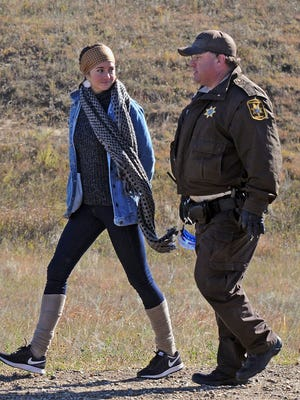 Shailene Woodley was arrested on Oct. 10 while protesting the Dakota Access Pipeline.