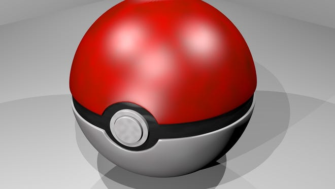 A bar crawl incorporating the mania for the Pokémon Go smartphone game begins 8 p.m. Sept. 17 in downtown Reno.  In the game, players use pokéballs (shown here) to capture Pokémon creatures.