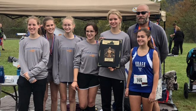 The Grace Christian girls cross country team won its second-straight VACA state championship this past weekend.