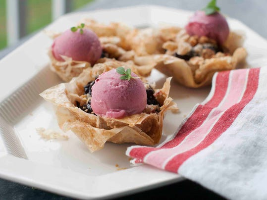 Food Healthy Plate Cherry Pies