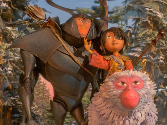 Beetle (voiced by Matthew McConaughey), Kubo (Art Parkinson)