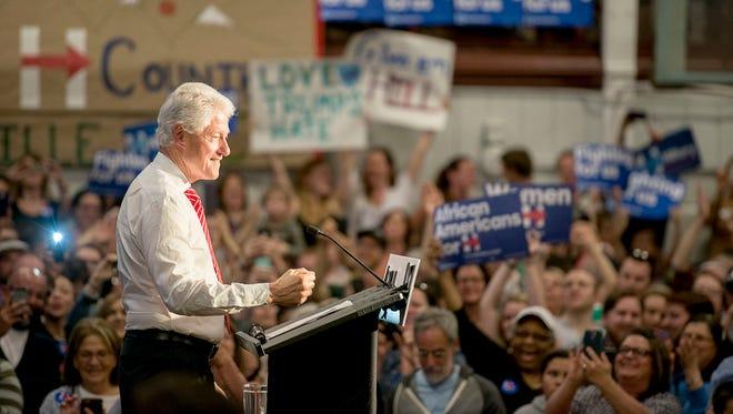 Bill Clinton speaks at Asheville High