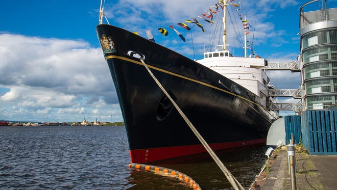 Decommissioned in 1997, the Royal Yacht Britannia is now docked in Edinburgh, Scotland.