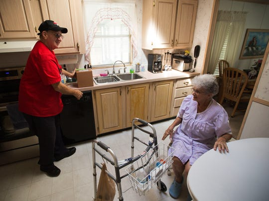 Betty Cerney, right, a resident of North Fort Myers