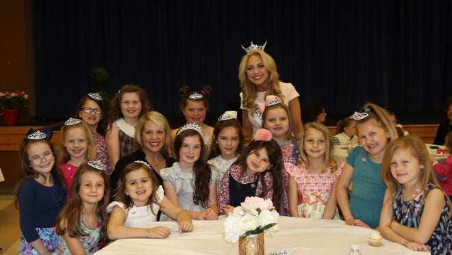 Young ladies had a chance to learn about pageantry etiquette from Miss Tennessee 2017, Caty Davis, during the Miss Tennessee and Me Tea event at the University School of Jackson on Sunday, February 25, 2018.