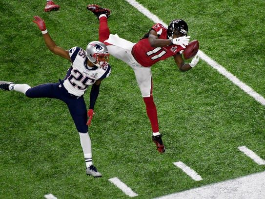 Last year in the Super Bowl, Julio Jones made this