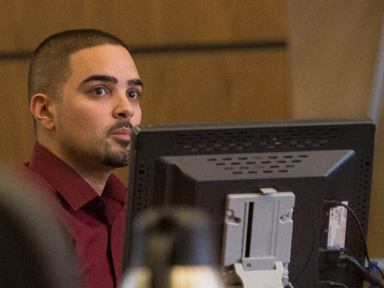 Ian Robles, an acquaintance  of Tai Chan, who had been with Chan and Jeremy Martin the night Martin was shot and killed, took the stand testifying to some of the events that happened prior to the shooting at the Hotel Encanto in 2014, Thursday May 18, 2017, at the Third Judicial District Court in Las Cruces.