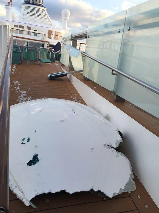 Cruise ship damage