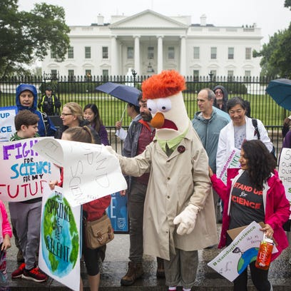 Members of the Union for Concerned Scientists pose