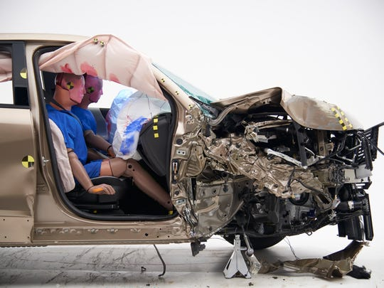 IIHS is developing a new crash test to assess rear-seat passenger safety.