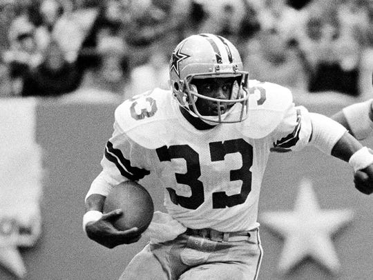 Tony Dorsett gained more than 12,000 yards in 12 seasons