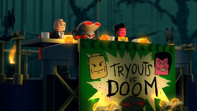 """Lex Luthor, Black Manta and Sinestro hold auditions for their supervillain supergroup in """"LEGO DC Comics Super Heroes — Justice League: Attack of the Legion of Doom."""""""