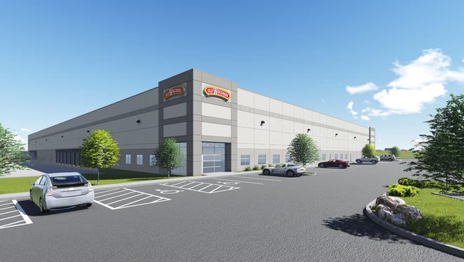 A conceptual drawing shows Old Wisconsin Sausage's planned 104,000-square-foot facility in Sheboygan's south-side industrial park.