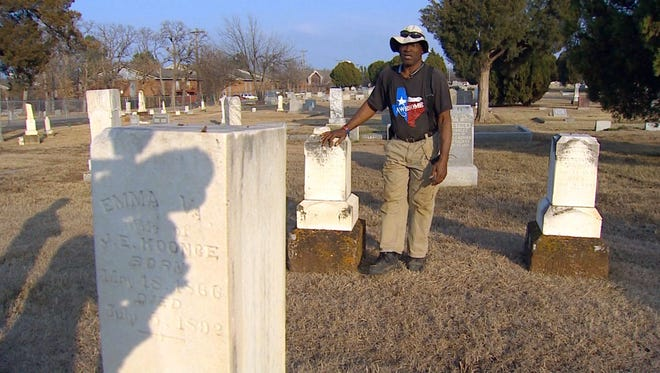 Willie Hudspeth, president of the NAACP chapter in Denton, Texas, asked why this city-controlled cemetery still had a whites-only designation more than 50 years after the federal Civil Rights Act.