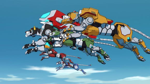 "The color-coordinated mechanized lions of ""Voltron"