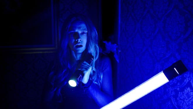 """Theresa Palmer in """"Lights Out."""" The movie opens Thursday at Regal West Manchester Stadium 13, Frank Theatres Queensgate Stadium 13 and R/C Hanover Movies."""