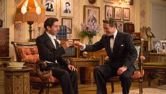 """Simon Helberg and Hugh Grant in """"Florence Foster Jenkins.""""  The movie opens Thursday at Frank Theatres Queensgate Stadium 13 and R/C Hanover Movies."""