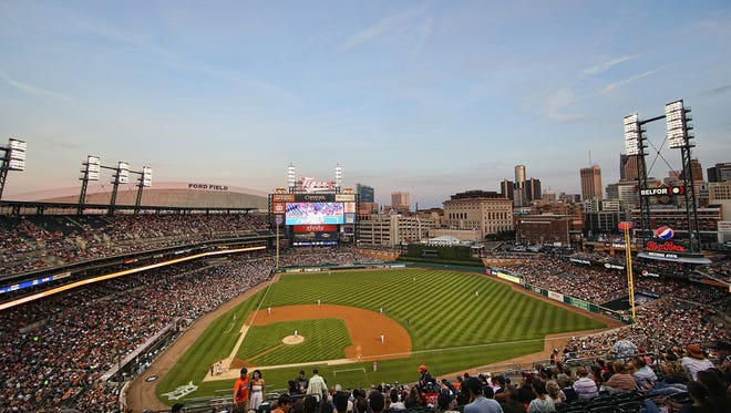 A general view of Comerica Park in 2016.