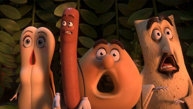 Brenda (Kristen Wiig), Frank (Seth Rogen), Sammy (Ed Norton) in Columbia Pictures' SAUSAGE PARTY.