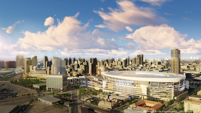 The Chargers hope to stay in San Diego and move into a new $1.8 billion stadium and convention center.