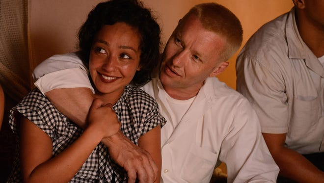 "Ruth Negga and Joel Edgerton in a scene from the film ""Loving."""