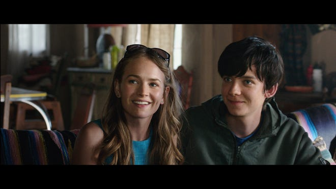 "Britt Robertson and Asa Butterfield star in ""The Space Between Us."""