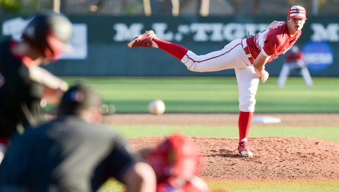 Redshirt freshman Jack Burk went 7.0 innings and allowed just one earned run in No. 15 UL's loss to Houston on Tuesday night at The Tigue.
