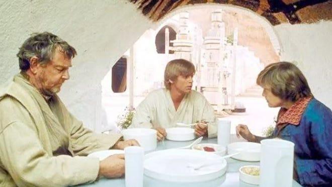 Blue milk is the staple of a growing Jedi Master's breakfast.