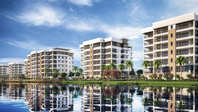 As planned, Moorings Park Grande Lake will consist of 275 lakefront residences, with all buildings featuring a coastal-inspired architectural design.