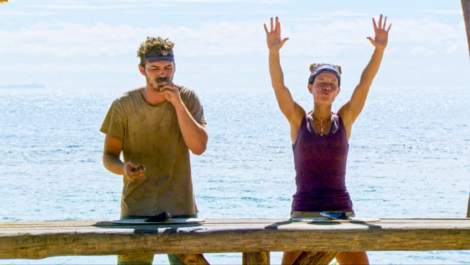 Michael Yerger and Angela Perkins went head-to-head last week for immunity. Angela destroyed all challengers.