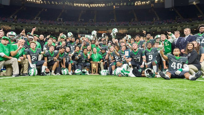 The Eunice Bobcats beat Sterlington on Friday in the Mercedes-Benz Superdome in New Orleans to win the Class 3A state championship.