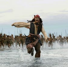 Johnny Depp brought tom foolery to the big screen asCaptain Jack Sparrow in the 'Pirates of the Caribbean' series.