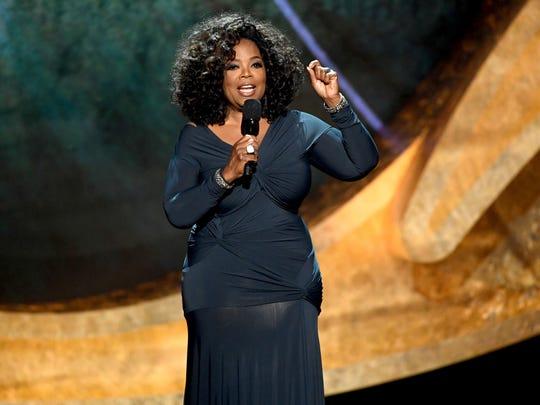 "Oprah Winfrey speaks onstage at ""Q 85: A Musical Celebration"