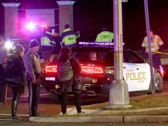 Police investigate a fatal pedestrian accident on Route