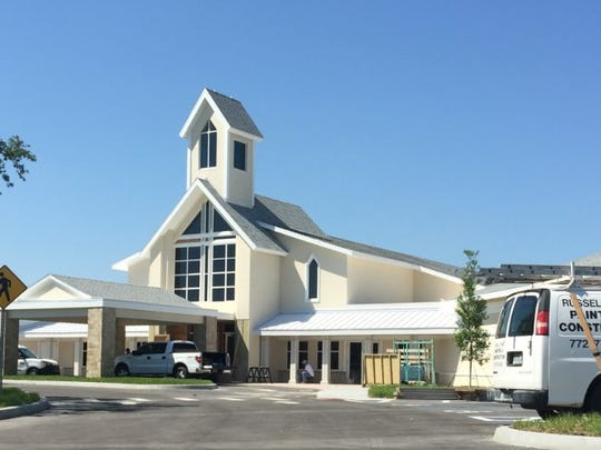 Construction is nearly complete for the 27,000-square-foot Christ Church complex located at the corner of State Road 60 and 6th Ave. in Vero Beach.  Church services are scheduled to begin in mid-June.