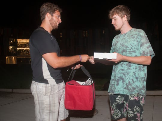 Brandon Lucante, left, who launched an on-demand freshly