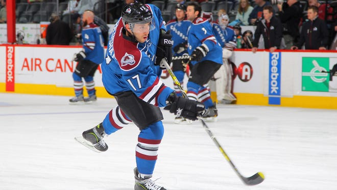 Aaron Palushaj played 25 games for the Colorado Avalanche.
