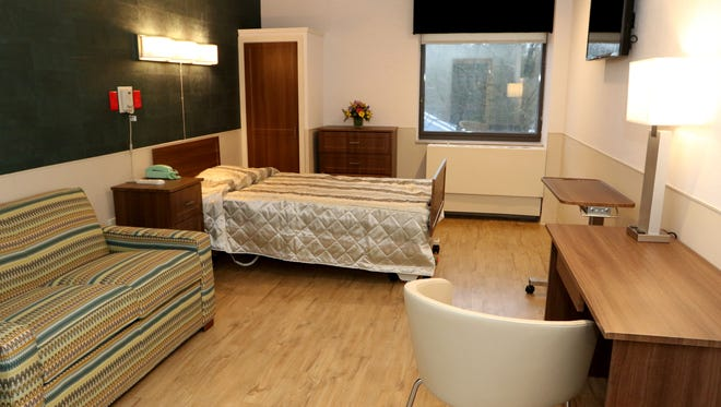 A private room inside the Runnells Center for Rehabilitation and Health Care, which has opened a newly renovated unit for rehab and sub-acute care.