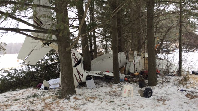 Cesna 182 crash near Owen Monday, January 26, 2015.