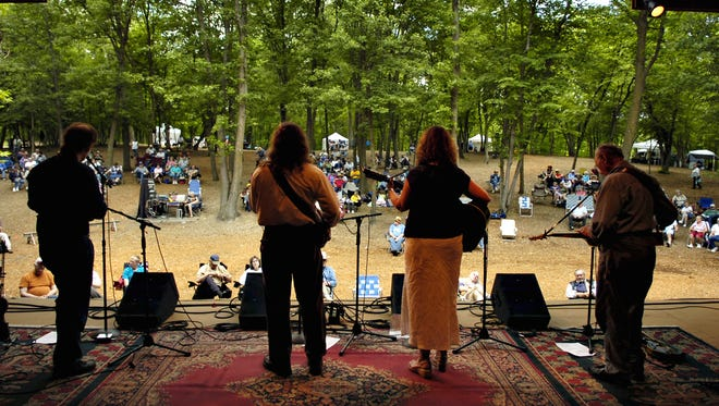 The group Seldom Herd plays for the crowd gathered for the Minnesota Homegrown Kickoff Music Festival in 2010 at El Rancho Manana in Richmond.