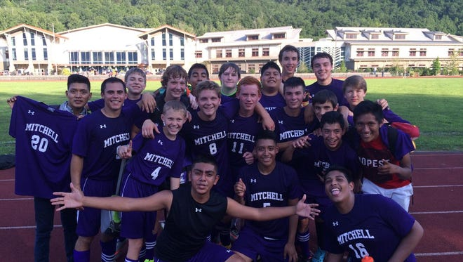 The Mitchell boys soccer team.