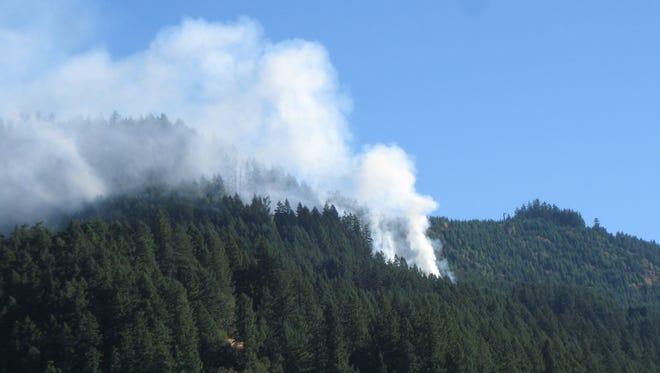 The Bald Butte fire is burning near Oakridge.