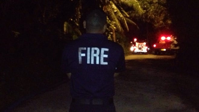 Guam Fire Department personnel responded Tuesday to a structure fire on Swamp Road in Dededo.