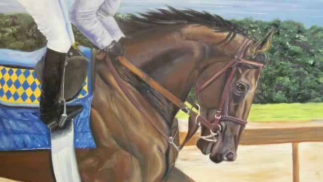 """Lori Sherer, a new SVA member, created this piece titled """"American Pharaoh."""""""