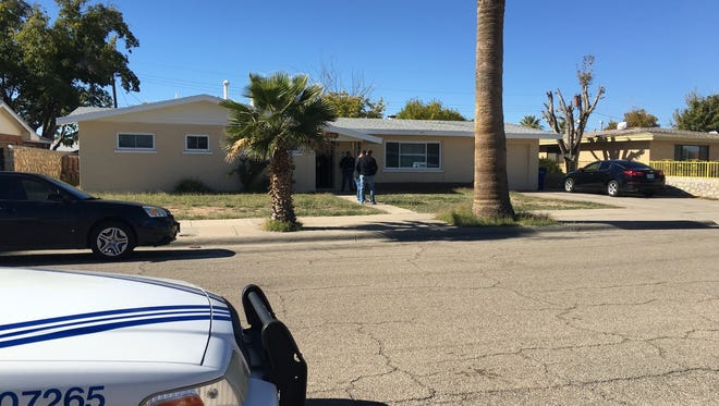 A man was shot in the hand in an apparent burglary at a Cielo Vista home Wednesday afternoon.